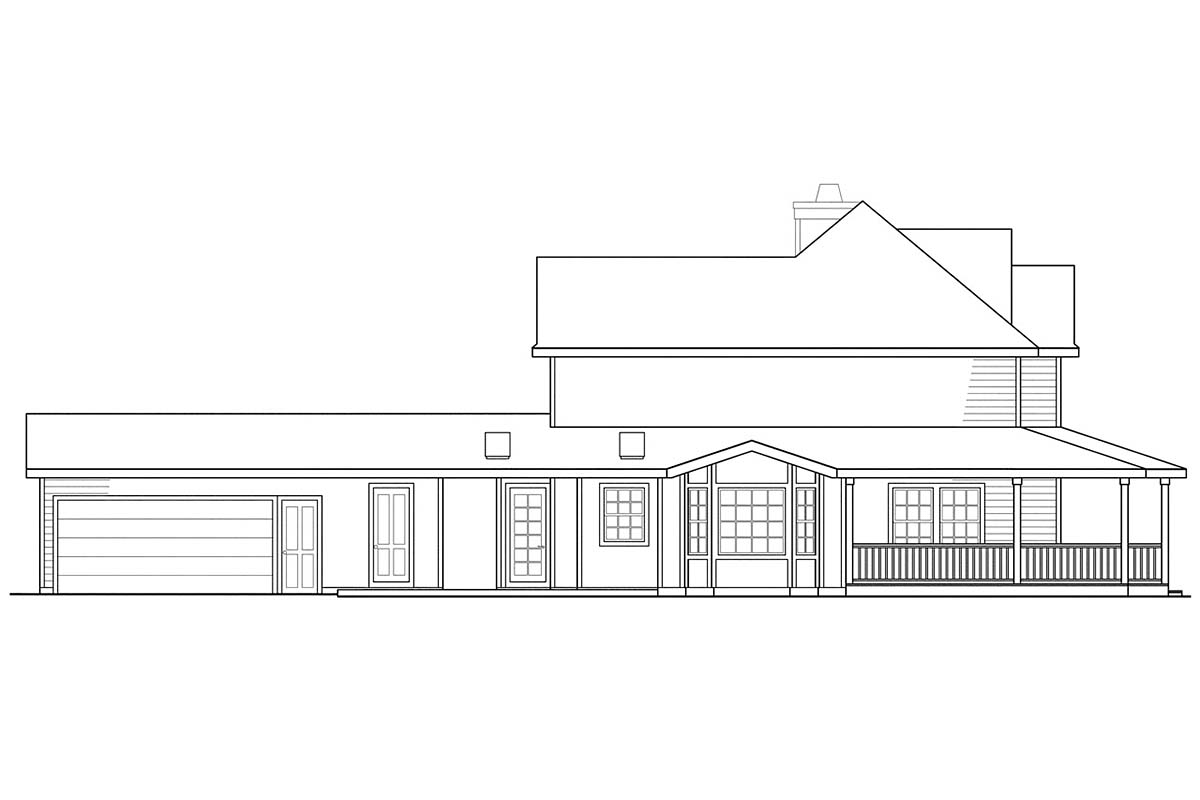 Country, Farmhouse House Plan 69384 with 3 Beds, 3 Baths, 2 Car Garage Picture 2