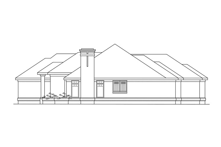 Southwest House Plan 69388 with 3 Beds, 2.5 Baths, 3 Car Garage Picture 3