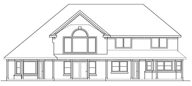 Tudor House Plan 69449 Rear Elevation
