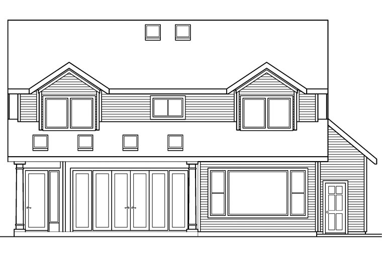 Country House Plan 69456 Rear Elevation