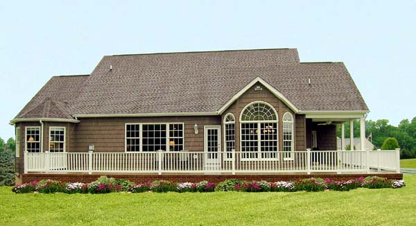 Country House Plan 69501 with 4 Beds, 3 Baths, 2 Car Garage Rear Elevation