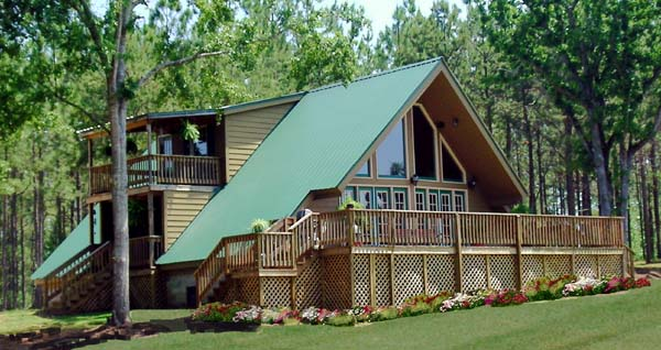 A-Frame Contemporary Elevation of Plan 69504