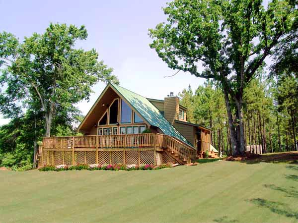A-Frame, Contemporary House Plan 69504 with 3 Beds, 2 Baths Picture 6