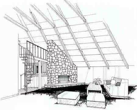 A-Frame Contemporary House Plan 69504