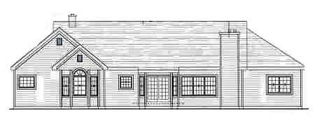 Country House Plan 69507 Rear Elevation