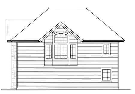 Traditional House Plan 69513 with 1 Beds, 1 Baths, 3 Car Garage Rear Elevation