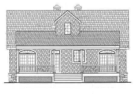 Cape Cod Country House Plan 69515 Rear Elevation