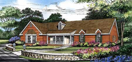 Ranch Traditional House Plan 69516 Elevation