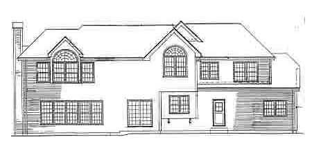 Traditional House Plan 69517 with 5 Beds, 5 Baths, 3 Car Garage Rear Elevation