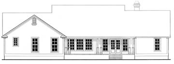Country House Plan 69518 Rear Elevation