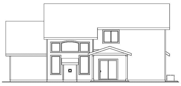 Craftsman House Plan 69625 Rear Elevation