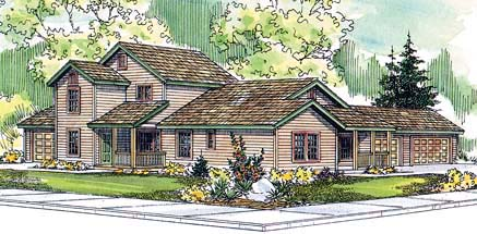 Country Multi-Family Plan 69641 Elevation