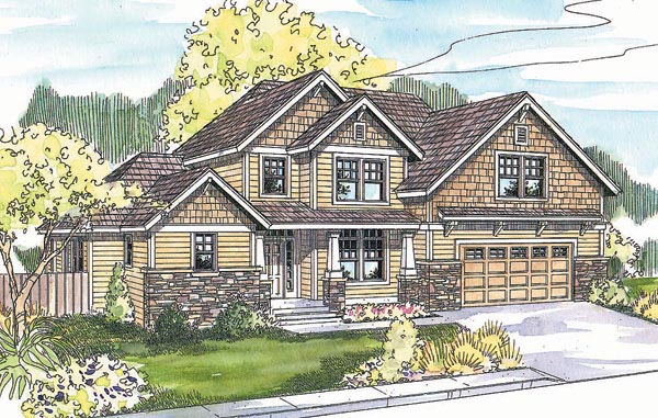 Craftsman House Plan 69696 Elevation