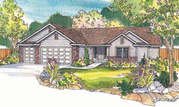 Ranch House Plan 69705 Elevation