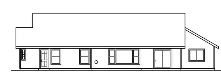 Ranch House Plan 69705 Rear Elevation