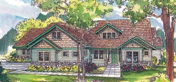 Craftsman House Plan 69713 Elevation