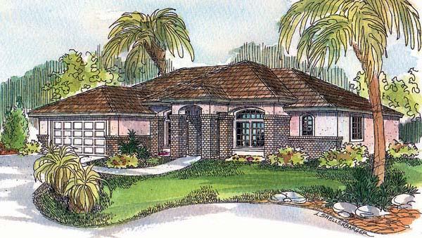Mediterranean House Plan 69723 Elevation