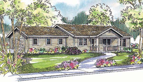 Ranch House Plan 69742 Elevation