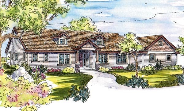 Country Craftsman House Plan 69750 Elevation