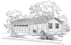 Traditional 2 Car Garage Plan 69757 Elevation