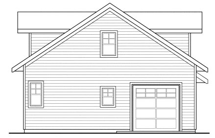 Traditional 1 Car Garage Apartment Plan 69765 Rear Elevation