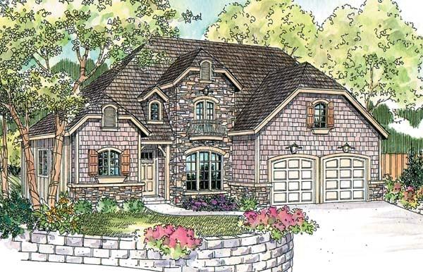 European Tudor House Plan 69772 Elevation