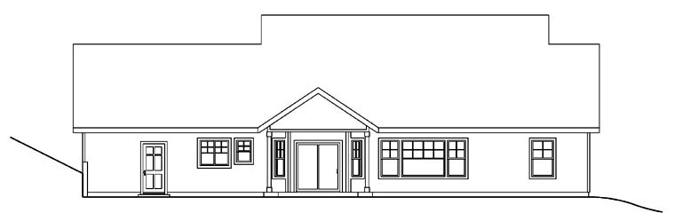 Country Craftsman Traditional House Plan 69780 Rear Elevation