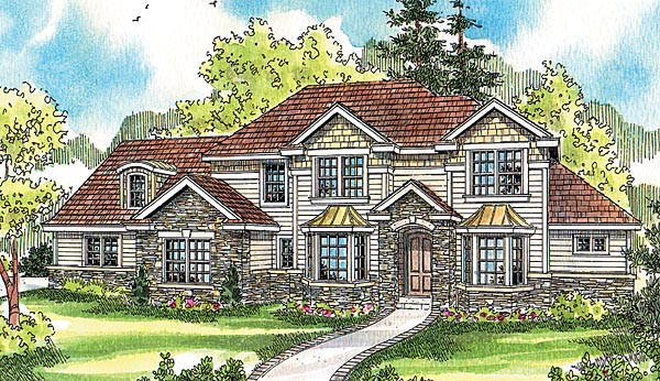 Craftsman European House Plan 69789 Elevation