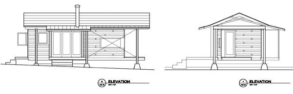 Cabin House Plan 69801 Rear Elevation