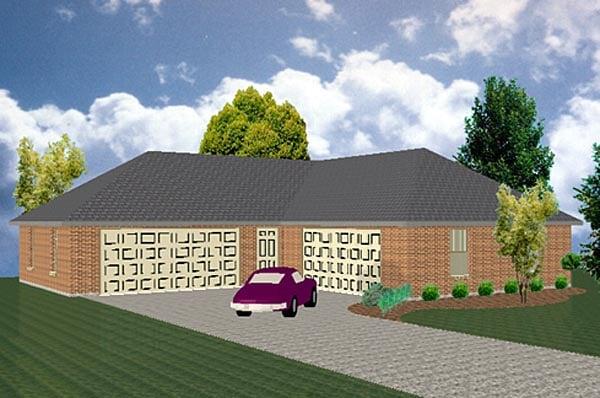 Garage Plan 69917 Elevation