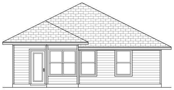 Cottage Craftsman House Plan 69923 Rear Elevation
