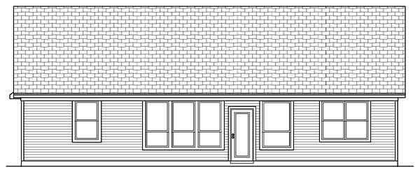 Craftsman Tudor House Plan 69925 Rear Elevation