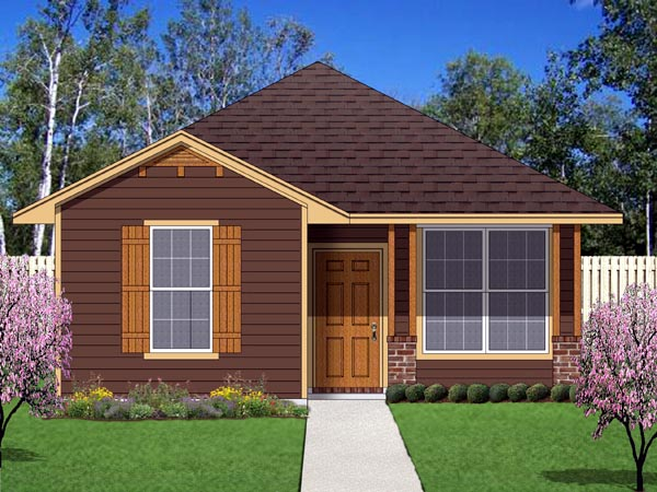 Cottage, Craftsman House Plan 69938 with 2 Beds, 2 Baths Elevation