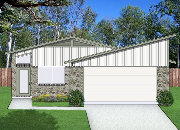Contemporary Cottage House Plan 69941 Elevation