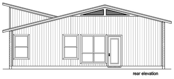 Contemporary Cottage House Plan 69941 Rear Elevation