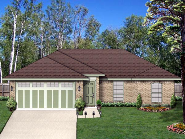Traditional House Plan 69955 with 3 Beds, 2 Baths, 2 Car Garage Elevation