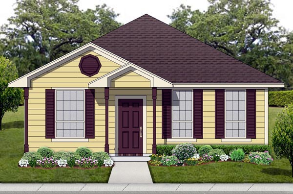Cottage Traditional House Plan 69957 Elevation