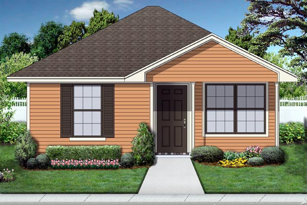Cottage House Plan 69980 with 1 Beds, 1 Baths Elevation