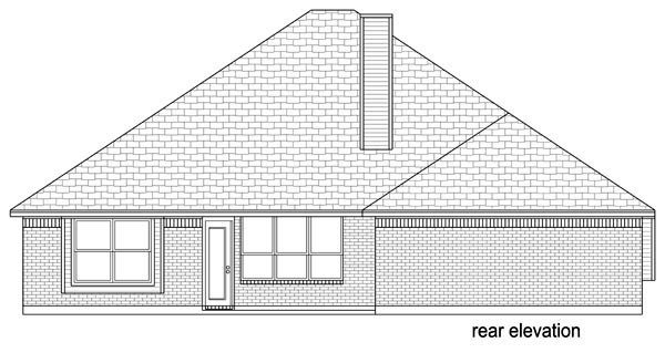 Traditional House Plan 69993 Rear Elevation