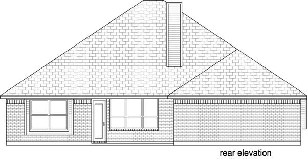 Traditional House Plan 69994 Rear Elevation