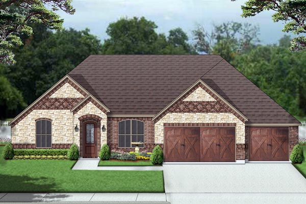 House plan 69999 for Unique european house plans