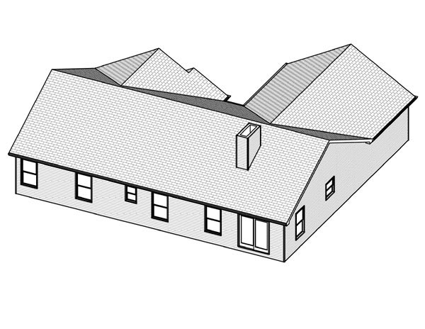 Traditional House Plan 70100 Rear Elevation