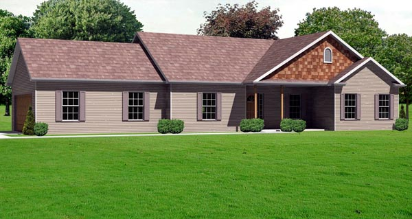 Traditional House Plan 70108 Elevation