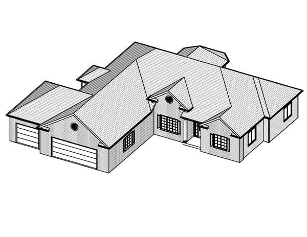 Traditional House Plan 70112 with 3 Beds, 3 Baths, 3 Car Garage Picture 1
