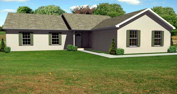 Traditional House Plan 70114 Elevation