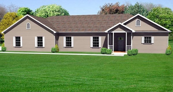Traditional House Plan 70125 Elevation