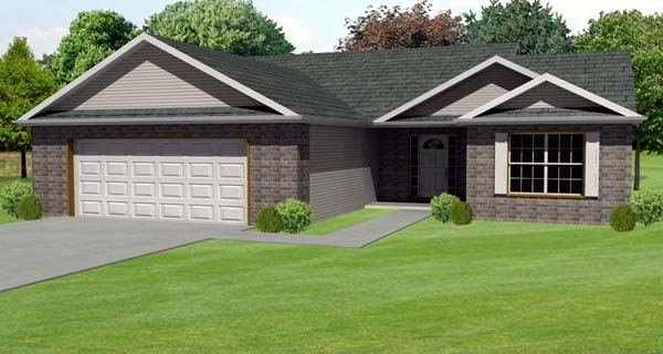 Traditional House Plan 70131 Elevation