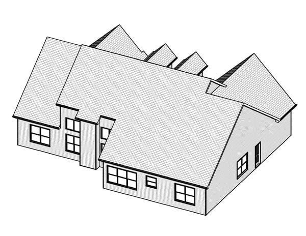 Cape Cod House Plan 70132 Rear Elevation