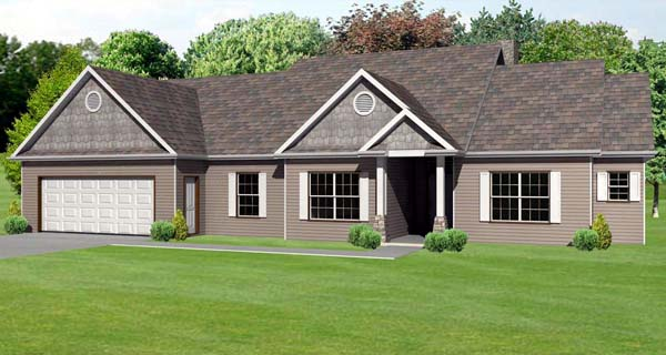 Traditional House Plan 70133 Elevation