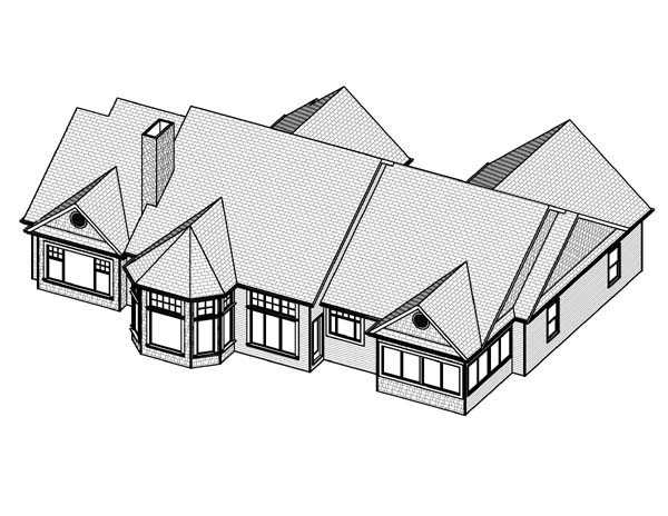 Traditional House Plan 70133 Rear Elevation